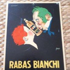 Carteles: CARTEL PUBLICIDAD RABAS BIANCHI RABARBARO EXTRA SOC. AN.BIANCHI & C. BRA-TORINO. MILANO. ORIGINAL. Lote 135486226