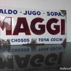 Carteles: CHAPA ESMALTADA MAGGI, AÑOS 20. Lote 135646919