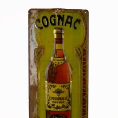 Carteles: C.PUIGMAL & CO. COGNAC- CHAPA CARTEL PUBLICITARIO METAL LITOGRAFIADO EN RELIEVE -CA.1930-40. Lote 135925806