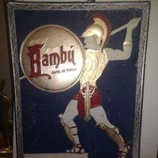 Carteles: CARTEL PAPEL DE FUMAR BAMBU - CARTON EN RELIEVE - AÑOS 30 - 49 X 35 CMS.. Lote 135955266