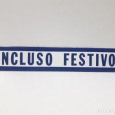Carteles: CARTEL - CHAPA ESMALTADA . INCLUSO FESTIVOS. Lote 136280022