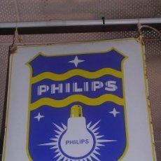 Carteles: CHAPA ESMALTADA ( ANTIGUA ) PHILIPS, 49 X 40 CM, MUY BUEN ESTADO. Lote 136798354