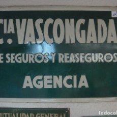 Carteles: CHAPA SEGUROS NO ESMALTADA 50 X 33. Lote 136811794