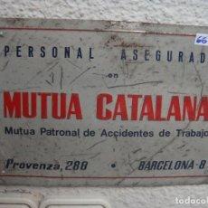 Carteles: CHAPA SEGUROS NO ESMALTADA 17 X 25. Lote 136831982