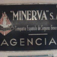 Carteles: CHAPA SEGUROS NO ESMALTADA 38 X 26. Lote 136833890