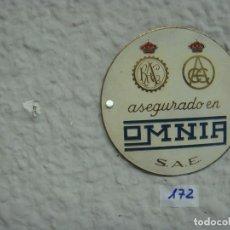 Carteles: CHAPA SEGUROS 7,3 DIAMETRO. Lote 137181074