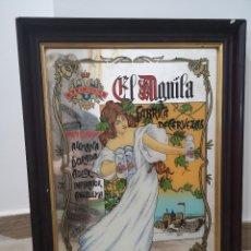 Carteles: ESPEJO SERIGRAFIADO DE CERVEZAS EL AGUILA - CERVEZA EL ÁGUILA 35X46CM. Lote 137324537