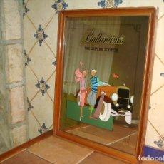 Carteles: ESPEJO PUBLICIDAD BALLANTINES GRAN TAMAÑO 47 CM X 62 CM,. Lote 138065842