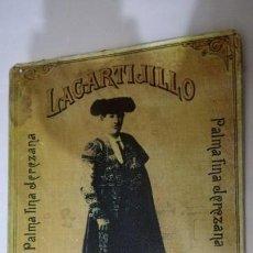 Carteles: CARTEL CHAPA METALICA 39X29 CM LAGARTIJILLO C DEL JEREZ PINO Y Cª. Lote 138609510