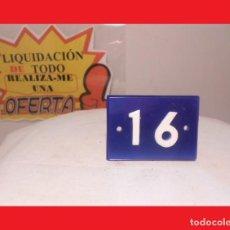 Carteles: PLACA O NÚMERO (16) BUEN ESTADO, PROCEDENTES DE HOTEL CASINO ANTIGUO -IDEAL PROYECTO RESTAURACIÓN-. Lote 139586638