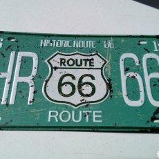 Carteles - Placa,chapa metalica, Historic route 66, 30 x 15 cm - 138942241