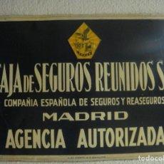 Carteles: CHAPA SEGUROS 68X48. Lote 139485266