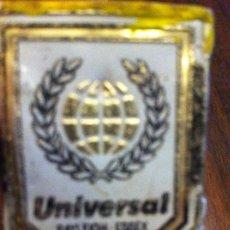 Carteles: PLAQUITA UNIVERSAL. RAY LEIGH ESBEX ENGLAND. CHAPA METAL. ORIGINAL. Lote 139658078