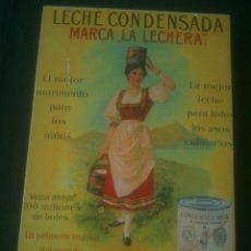 Carteles: REPRODUCCION LECHE CONDENSADA LA LECHERA.. Lote 139674454