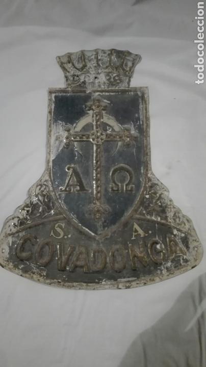 CHAPA DE SEGUROS COVADONGA S.A. DE G. DE ANDREIS BADALONA (Coleccionismo - Carteles y Chapas Esmaltadas y Litografiadas)