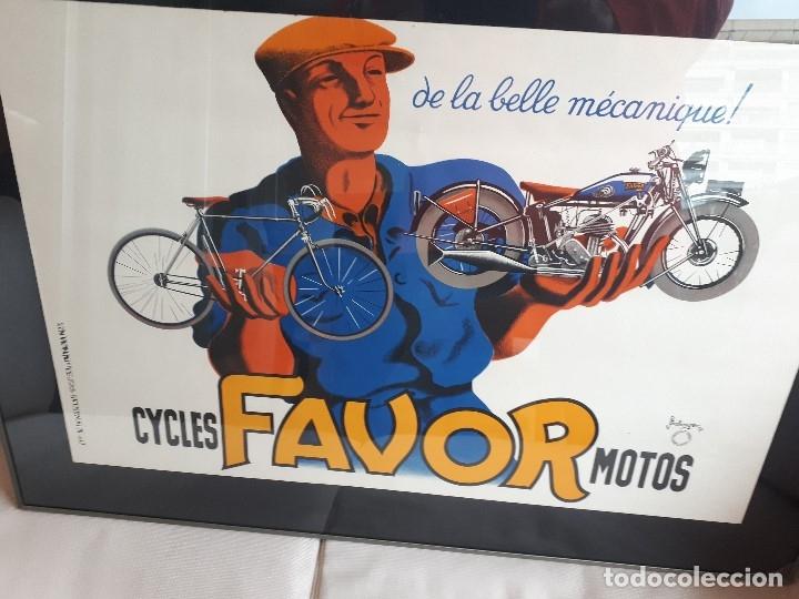 Carteles: Extraordinario Cartel Bicicletas Motos FAVOR. Francia. Publicidad Industrial. Original de 1937. Joya - Foto 2 - 114034567