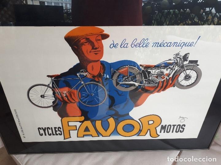 Carteles: Extraordinario Cartel Bicicletas Motos FAVOR. Francia. Publicidad Industrial. Original de 1937. Joya - Foto 4 - 114034567