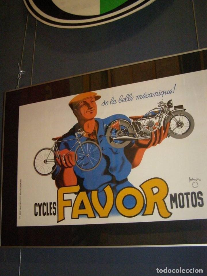 Carteles: Extraordinario Cartel Bicicletas Motos FAVOR. Francia. Publicidad Industrial. Original de 1937. Joya - Foto 6 - 114034567