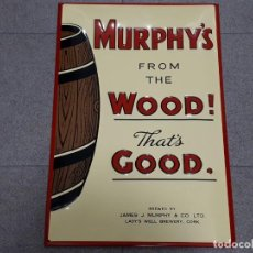 Carteles: MURPHY´S - FROM THE WOOD - THAT´S GOOD - CUADRO - CHAPA - 59X39.5CMS. Lote 175021912
