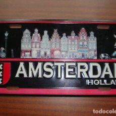Carteles: CHAPA ESMALTADA DE AMSTERDAM HOLANDA DE 30 X 15 CM. Lote 140850274