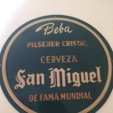 Carteles: CHAPA CERVEZA SAN MIGUEL. Lote 141311122