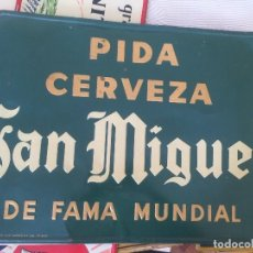 Carteles: CHAPA CERVEZA SAN MIGUEL. Lote 141314950