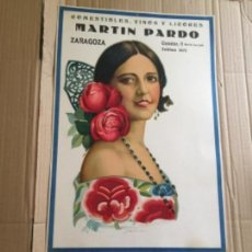 Carteles: CARTEL CALENDARIO 1934 , REPUBLICA ESPAÑOLA , ZARAGOZA. Lote 141316674