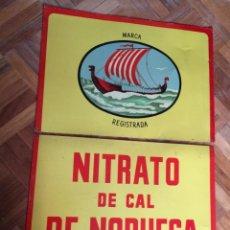 Carteles: CHAPA NITRATO DE NORUEGA. Lote 141318286