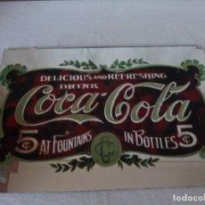 Carteles: ESPEJO ESMALTADO, PUBLICIDAD COCA COLA. Lote 141780938