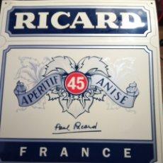 Carteles: CARTEL PUBLICITARIO DE RICARD ORIGINAL EN PLÁSTICO DURO 40 X 50. Lote 142575266