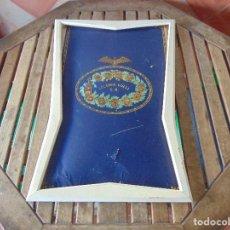 Carteles: CARTEL CARTON PUBLICIDAD DE LA COLONIA CATALANA GUELL S.A. CON MARCO DE MADERA Y RECORTADO. Lote 143286854