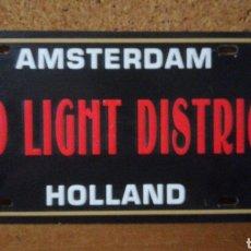 Carteles: ANTIGUA MATRÍCULA AMSTERDAM RED LIGHT DISTRICT. Lote 143383384