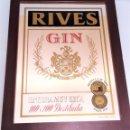 Carteles: ESPEJO GIN RIVES ALSO GINEBRA PUBLICIDAD CUADROS CUADRO. RARO Y DIFICIL DE VER. Lote 144593105