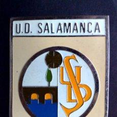 Carteles: ANTIGUA PLACA DE METAL ESMALTADA,CLUB DE FUTBOL,U.D.SALAMANCA (DESCRIPCIÓN). Lote 146512762