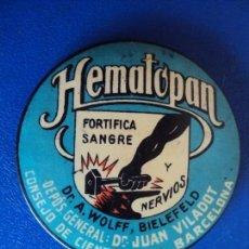 Carteles: (PUB-190130)ESPEJO PUBLICITARIO HEMATOPAN - FORTIFICA SANGRE Y NERVIOS - BARCELONA. Lote 146737550