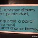 Carteles: ANTIGUO LETRERO DE AGENCIA DE PUBLICIDAD. EN MADERA. . Lote 146790686