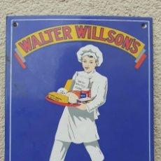 Carteles: CARTEL (LETRERO) PUBLICITARIO DE CERÁMICA ESMALTADA - WALTER WILLSON'S - ENGLAND. Lote 146903510