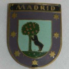 Carteles: CHAPA ESMALTADA DEL AYUNTAMIENTO DE MADRID, MIDE 5,5 X 4,5 CMS.. Lote 147281146
