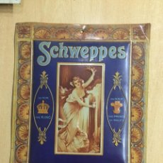 Carteles: CHAPA SCHWEPPES 27X32. Lote 147438134