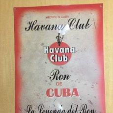 Carteles: CHAPA RON HAVANA CLUB 35 X 50. Lote 147449994