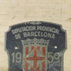 Carteles: MATRICULA BICICLETA 1959. Lote 147591012
