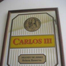 Carteles: CUADRO ESPEJO BRANDY CARLOS III. JEREZ. Lote 147757502