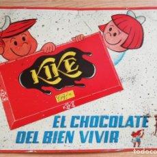 Carteles: PRECIOSA CHAPA LITOGRAFIADA DE PUBLICIDAD DE CHOCOLATE KIKE, GIJON, ASTURIAS, CON LAS LETRAS Y DIBUJ. Lote 147927306
