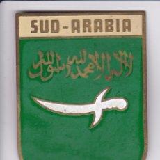 Carteles: SUD-ARABIA - CHAPA METALICA ESMALTADA DE COCHE - AÑ0 1950/60 - DIAMETRO 7,5 CMS. Lote 148040010