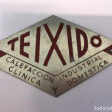 Carteles: PLACA METÁLICA TEIXIDÓ. Lote 148050478