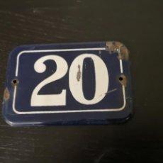 Carteles: CHAPA ESMALTADA N°2O. Lote 148098129