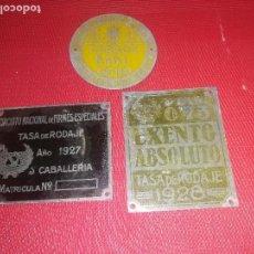 Carteles: CHAPAS PARA CARROS Y CABALLOS - AÑO 1927 - 1928 - 1949. Lote 148158094