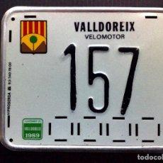 Carteles: CHAPA MATRICULA DE VELOMOTOR,AÑO 1989 DE VALLDOREIX (15CM. X 12CM.) DESCRIPCIÓN.. Lote 148564602
