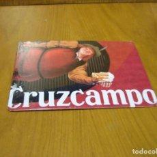 Carteles: CHAPA METÁLICA DE CERVEZA CRUZCAMPO. SIN USO . PROTEGIDA EN BLISTER. Lote 148584010