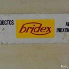 Carteles: CARTEL DE CHAPA LITOGRAFIADO PRODUCTOS BRIDEX . Lote 148674034